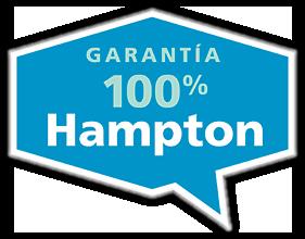 Logotipo de la garantía 100% Hampton Guarantee