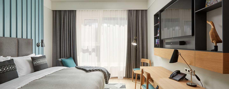 Hôtel Canopy by Hilton Reykjavik City Centre, Islande - Chambre Canopy avec très grand lit