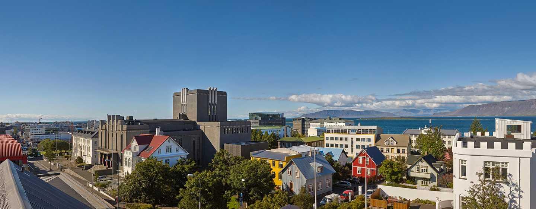 Hôtel Canopy by Hilton Reykjavik City Centre, Islande - Vue du balcon
