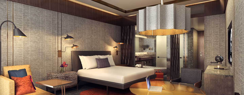 Hôtel Conrad Bengaluru, Inde - Chambre de luxe avec très grand lit