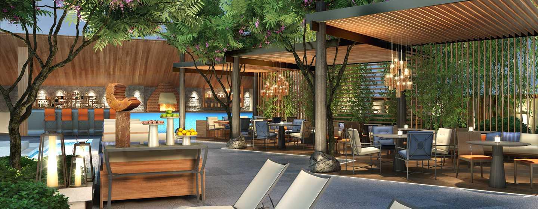 Hôtel Conrad Bengaluru, Inde - Restaurant italien en plein air côté piscine