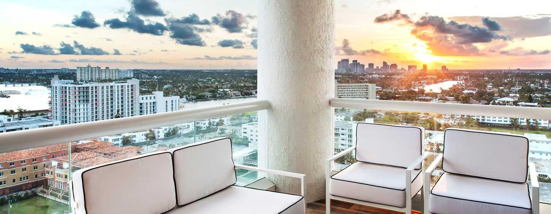 Conrad Fort Lauderdale Beach, EUA – vista do terraço