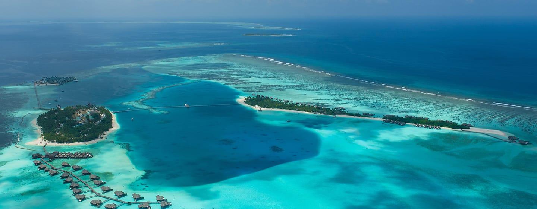Conrad Maldives Rangali Island Hotel, Malediven– Luftbild des Conrad Maldives Rangali Island