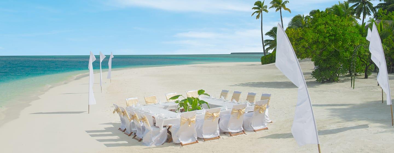โรงแรม Conrad Maldives Rangali Island มัลดีฟส์ - ร้านอาหารริมหาด