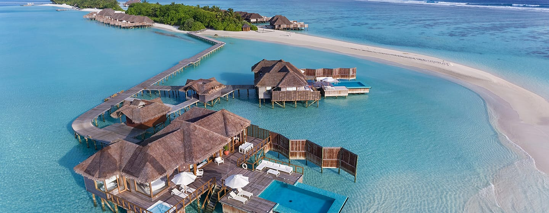 โรงแรม Conrad Maldives Rangali Island มัลดีฟส์ - ภาพจากมุมสูง