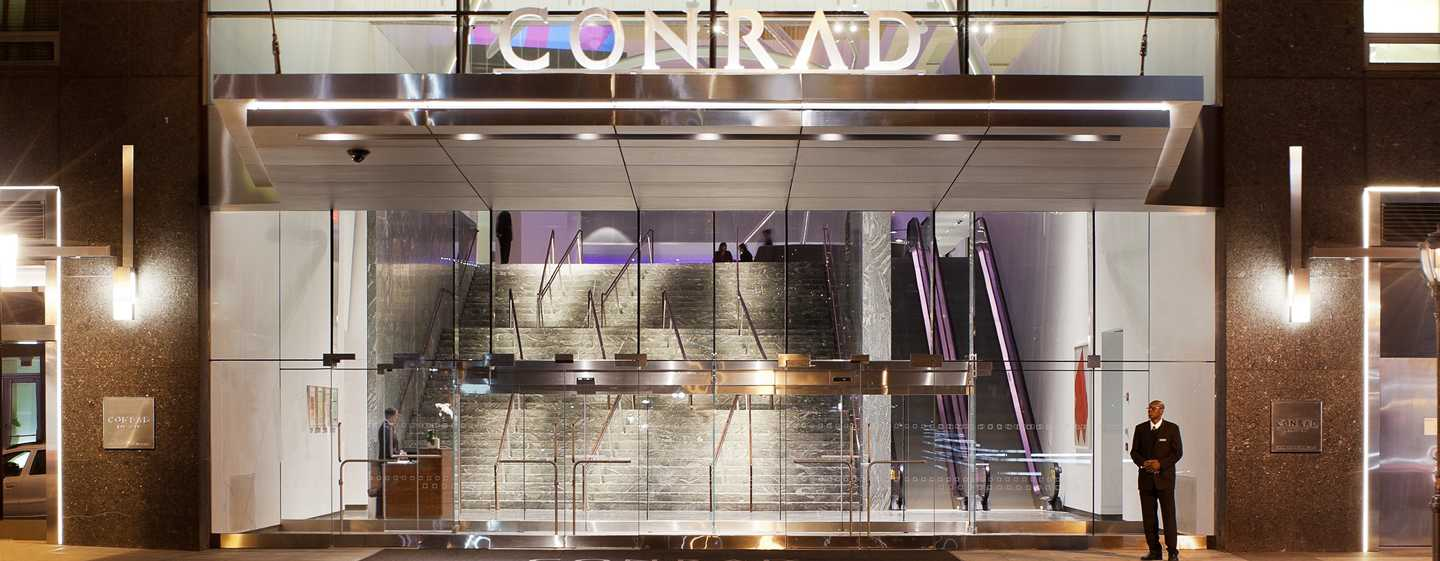 Conrad New York Downtown hotel, EUA – Entrada do hotel