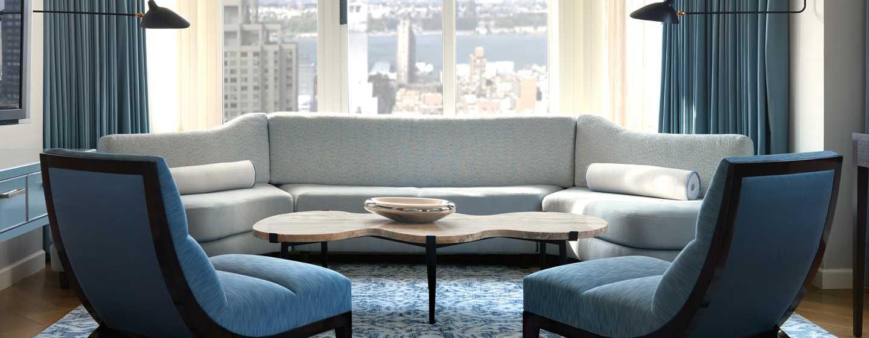 The London NYC, EE. UU. - Sala de estar del apartamento London