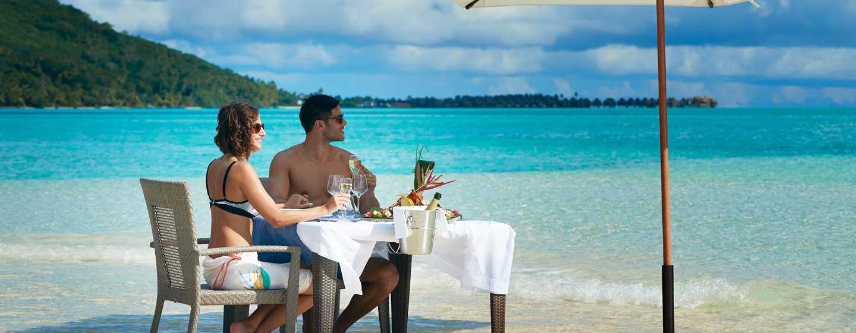 Hôtel Conrad Bora Bora Nui, Polynésie française - Déjeuner sur le Motu Tapu