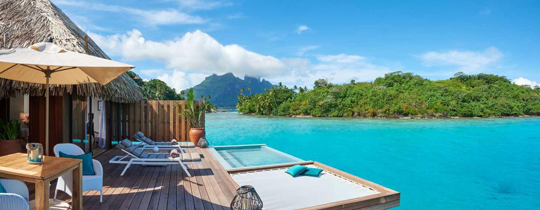 Hôtel Conrad Bora Bora Nui, Polynésie française - Extérieur d'une villa royale sur pilotis avec piscine
