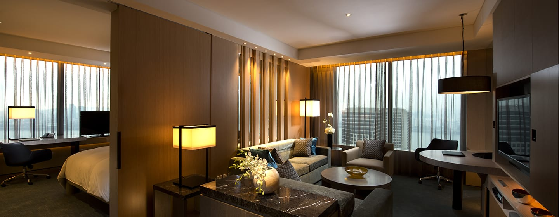 โรงแรม Conrad Seoul เกาหลีใต้ - ห้อง Conrad เอ็กเซ็กคิวทีฟสวีทหัวมุม เตียงคิงไซส์