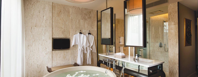 โรงแรมคอนราด เกาะสมุย ประเทศไทย - พูลวิลล่า วิวทะเล ห้องน้ำ