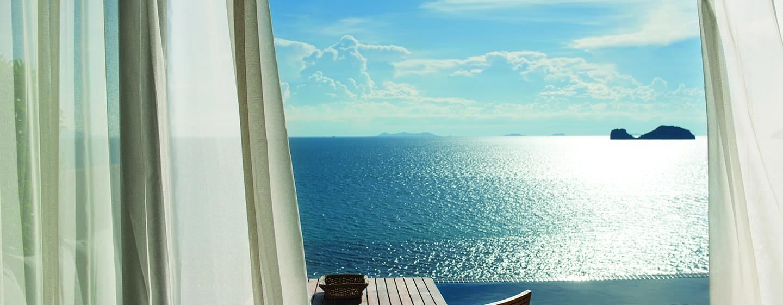 โรงแรมคอนราด เกาะสมุย ประเทศไทย - วิวจากพูลวิลล่าวิวทะเล