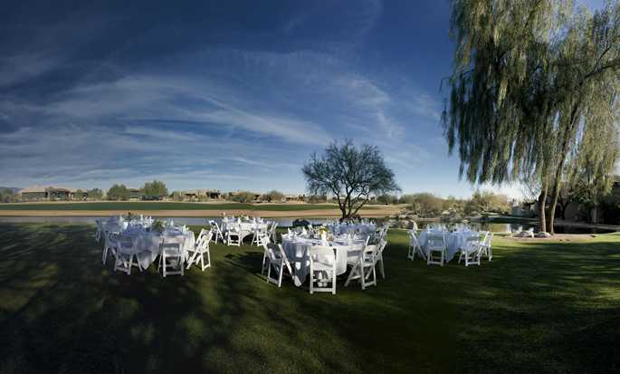 Boulders Resort & Spa, Curio Collection by Hilton Hotel, USA  - Outdoor Wedding Setup Banquet Style