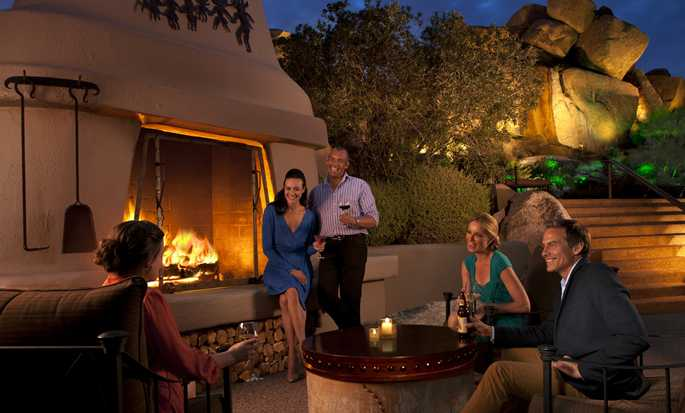 Boulders Resort & Spa Scottsdale, Curio Collection by Hilton Hotel, USA  - Lodge Pool Fireplace
