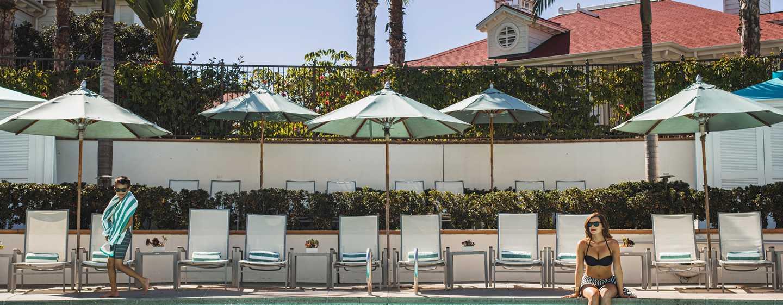 Beach Village at The Del, Curio Collection by Hilton Hotel, Kalifornien, USA– Beach Village Swimmingpool