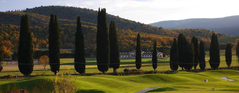 Hôtel La Bagnaia Golf & Spa Resort Siena, Curio Collection by Hilton, Italie - Vue sur le parcours de golf