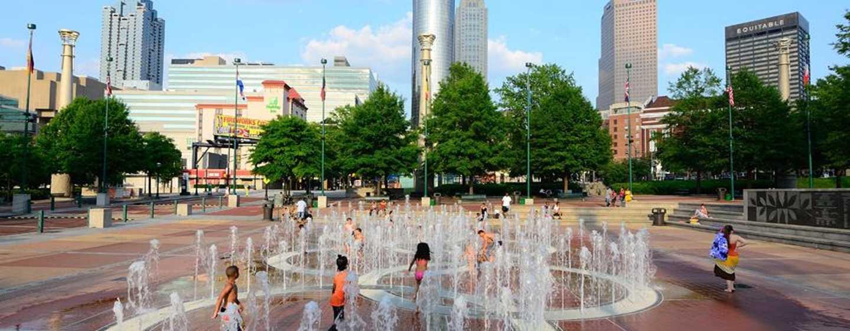 The American Hotel Atlanta Downtown – a DoubleTree by Hilton, USA– Springbrunnen im Centennial Olympic Park
