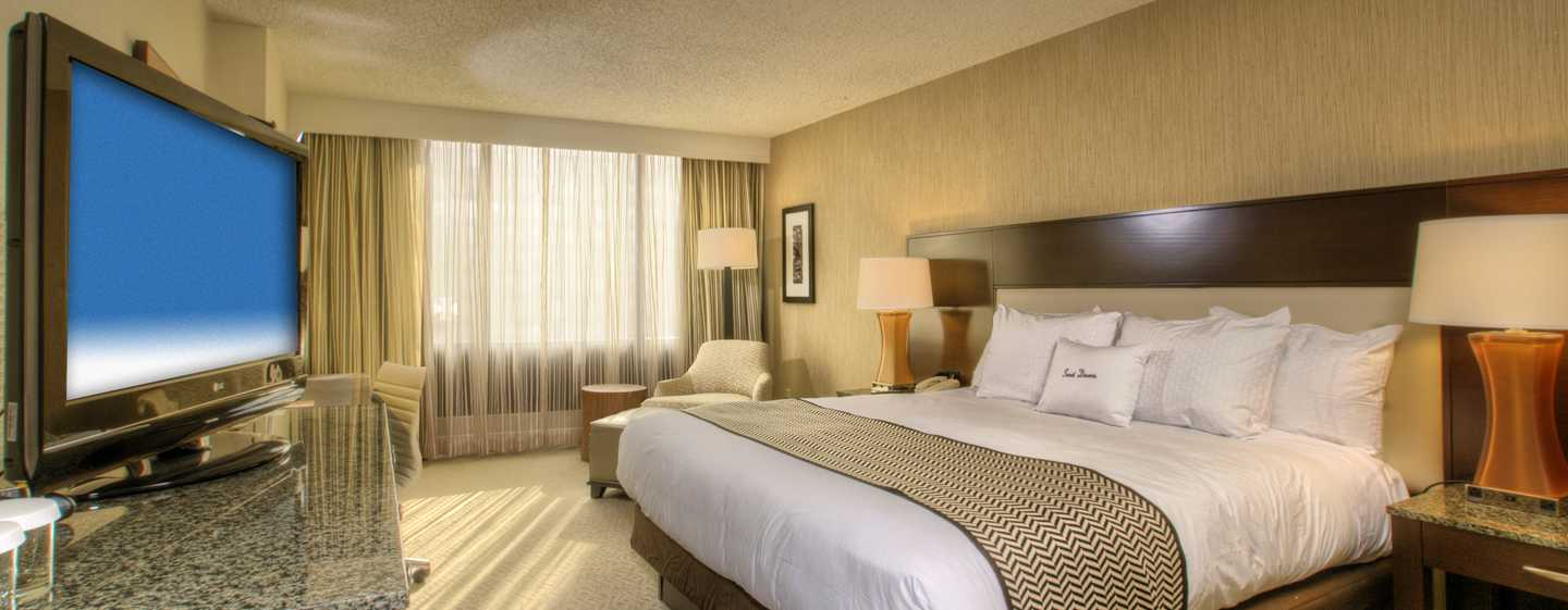 DoubleTree by Hilton Hotel Washington DC – Crystal City, VA – Deluxe Zimmer mit King-Size-Bett
