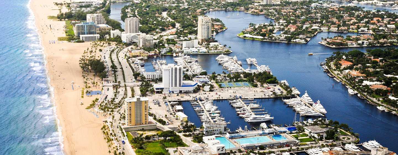 Bahia Mar Fort Lauderdale Beach – a DoubleTree by Hilton Hotel, EUA – Vista aérea