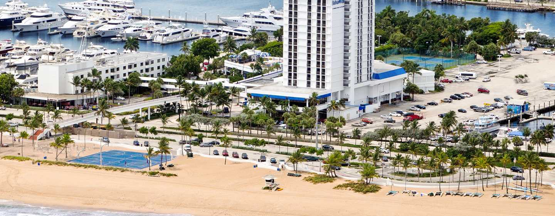Bahia Mar Fort Lauderdale Beach – a DoubleTree by Hilton Hotel, EUA – Vista para o complexo
