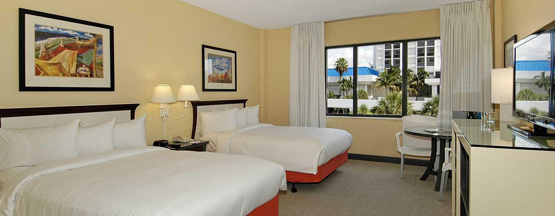 Bahia Mar Fort Lauderdale Beach – a DoubleTree by Hilton Hotel, USA – Två dubbelsängar