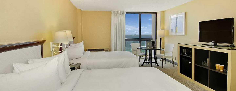 Bahia Mar Fort Lauderdale Beach - a DoubleTree by Hilton Hotel, USA– Zimmer mit zwei Doppelbetten