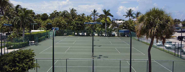 Bahia Mar Fort Lauderdale Beach – a DoubleTree by Hilton Hotel, EUA – Quadras de tênis
