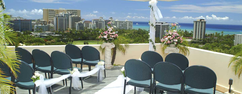 Hôtel DoubleTree by Hilton Alana - Waikiki Beach, États-Unis - Configuration de mariage