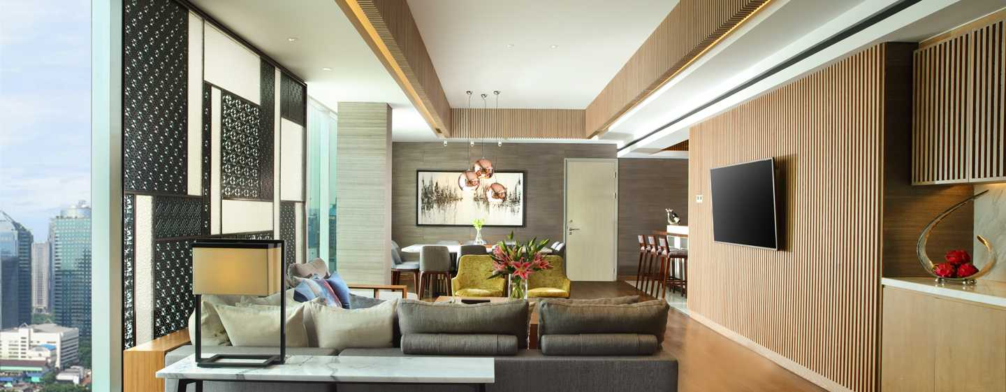Hotel DoubleTree by Hilton Jakarta, Indonesia - Ruang Tamu Suite Penthouse