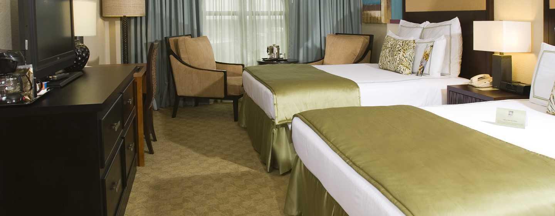 Hotel DoubleTree by Hilton Orlando at SeaWorld, Florida - Habitación con dos camas Queen, en la torre