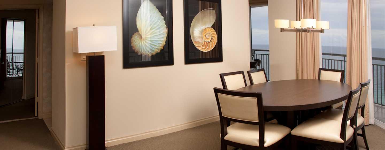 DoubleTree Resort & Spa by Hilton Hotel Ocean Point – North Miami Beach, Flórida, EUA – Suíte com dois quartos