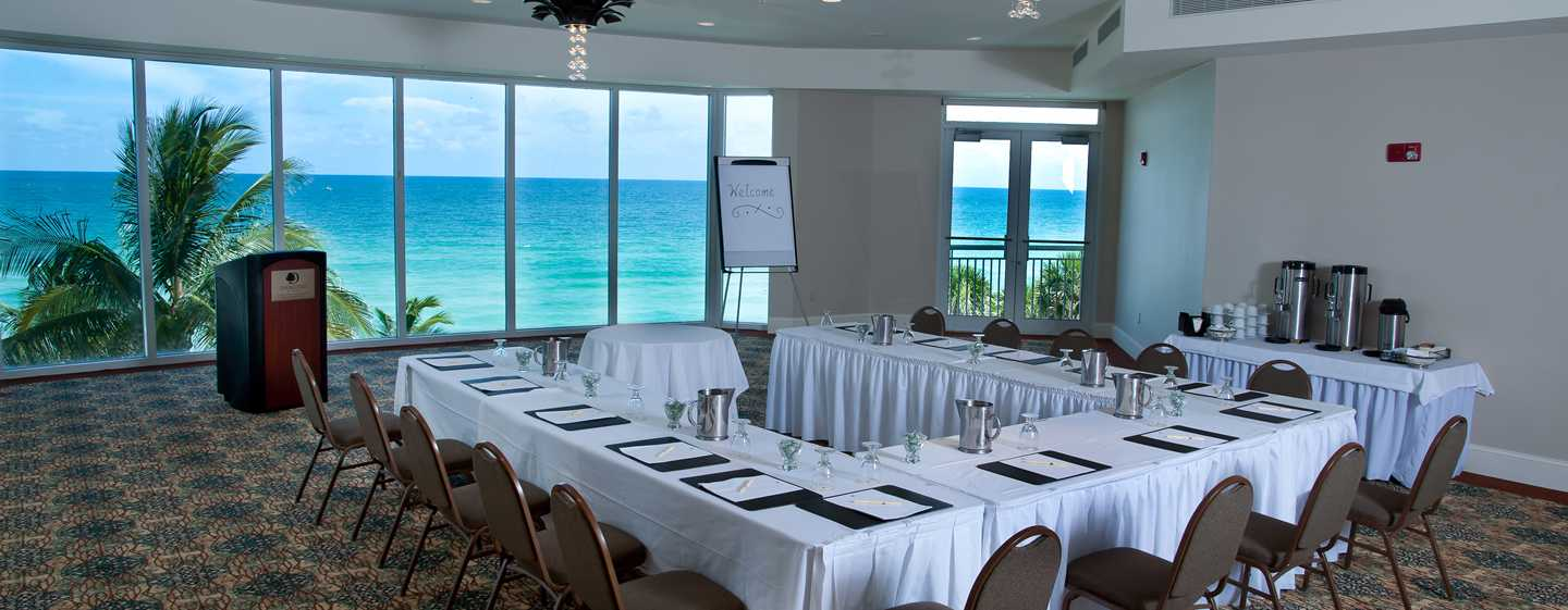 Hotel DoubleTree Resort & Spa by Hilton Ocean Point - North Miami Beach, Florida, EE. UU. - Sala de reuniones Atlantic Point