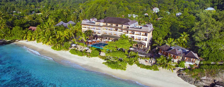 Hôtel DoubleTree Resort & Spa by Hilton Hotel Seychelles - Allamanda, Seychelles - Vue aérienne