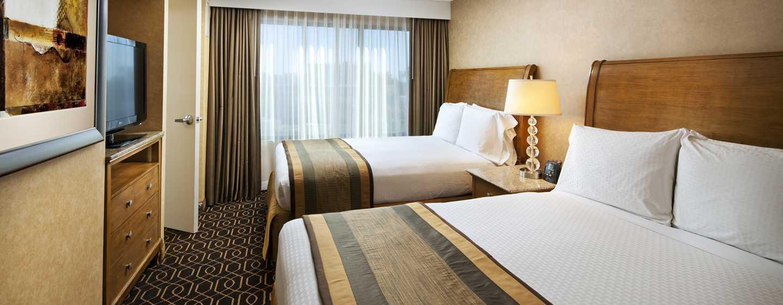 Hotel DoubleTree Suites by Hilton Anaheim Resort - Convention Center, California - Dormitorio de la suite con camas Queen