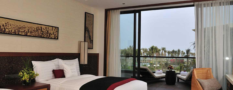 DoubleTree Resort by Hilton Hotel Sanya Haitang Bay, China– Zimmer mit zwei Einzelbetten und Gartenblick