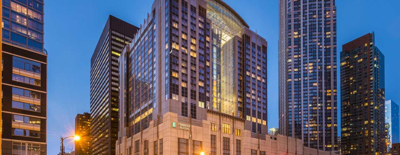Embassy Suites Chicago Downtown Magnificent Mile Hotel, Illinois, USA– Außenansicht