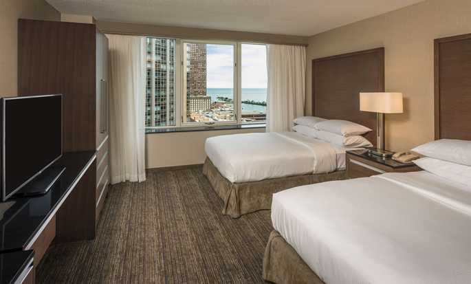 Hotel Embassy Suites Chicago Downtown Magnificent Mile, Illinois – Suite doble con vista al lago