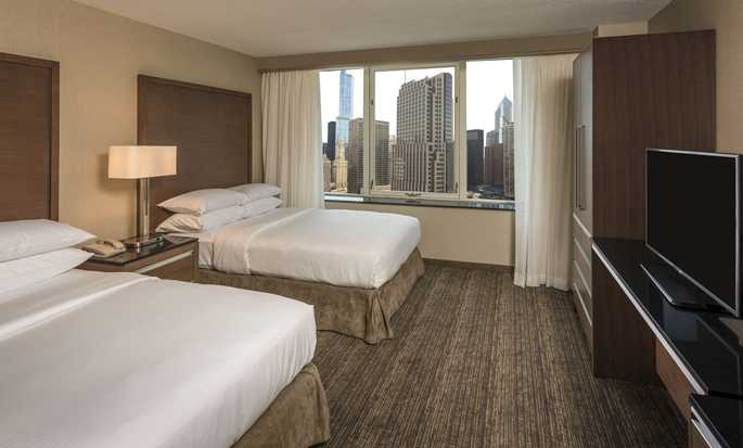 Embassy Suites Chicago Downtown Magnificent Mile Hotel, Illinois, USA – Doppelzimmer mit Stadtblick