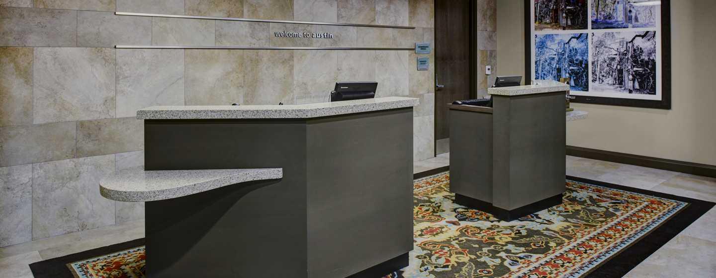 Hotellet Hampton Inn & Suites Austin vid universitetet/Capitol, USA – Receptionsområde
