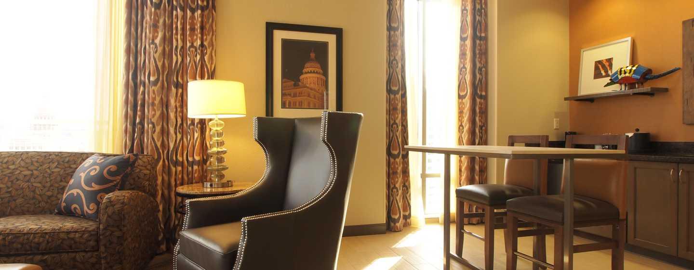 Hotellet Hampton Inn & Suites Austin vid universitetet/Capitol, USA – Svit King