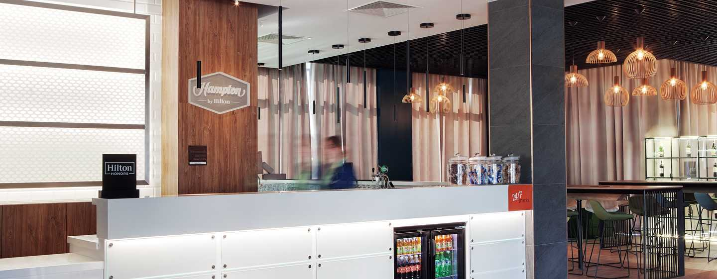 Hampton by Hilton Berlin City East Side Gallery Hotel, Deutschland – Empfang
