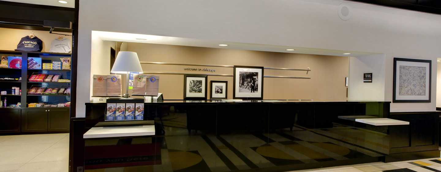 Hampton Inn & Suites Chicago-Downtown, EUA - Área de Check-In