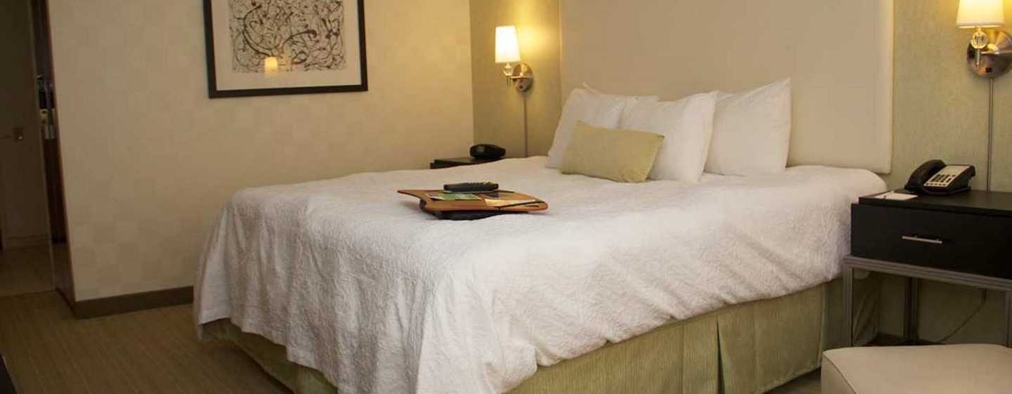 Hampton Inn & Suites Chicago-Downtown, EUA - Quarto com cama king-size