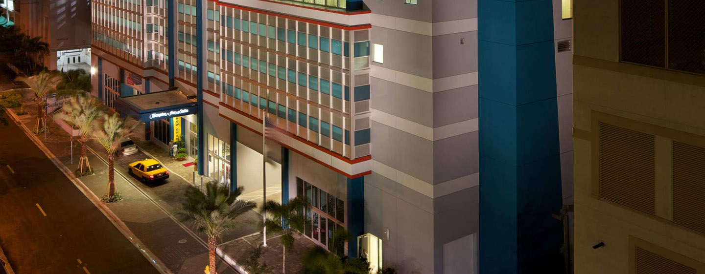 Hotel Hampton Inn & Suites Miami/Brickell-Downtown, Florida - Hotel de noche