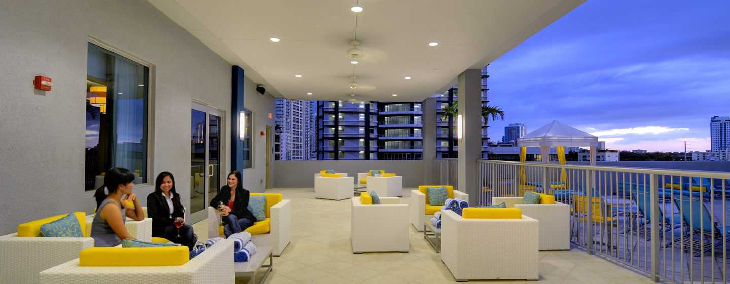 Hotel Hampton Inn & Suites Miami/Brickell-Downtown, Flórida – Varanda