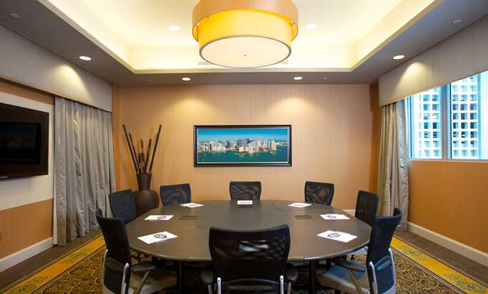 Hotel Hampton Inn & Suites Miami/Brickell-Downtown, Florida - Sala de juntas Bluebird