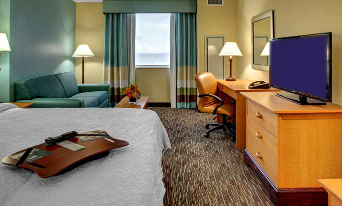 Hotel Hampton Inn & Suites Miami-Airport South-Blue Lagoon, Flórida – Quarto King Study
