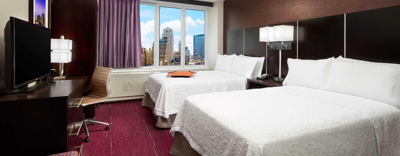 Hampton Inn Manhattan/Times Square Central Hotel, New York, USA– Zimmer mit Blick auf die Stadt