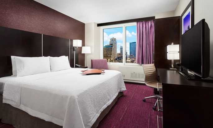 Hotel Hampton Inn Manhattan/Times Square Central, Nova York, EUA - Quarto King com vista para a cidade
