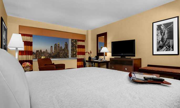 Hotel Hampton Inn Manhattan-Times Square North, Stati Uniti d'America - Camera con letto king size e vista sulla città